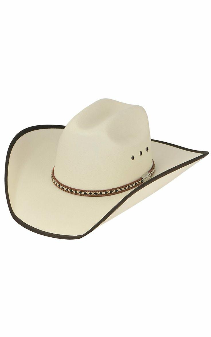Cavender's Ivory Straw Bound Edge Cowboy Hat
