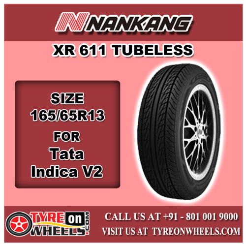 Buy 165/65R13 Size Nankang Car Tyres Online of XR 611 Tubeless Tyres for Tata Indica V2 Car at Guaranteed Low Prices and also get Mobile Tyres Fitting Services at your home now buy at http://www.tyreonwheels.com/tyres/Nankang/XR-611/1184