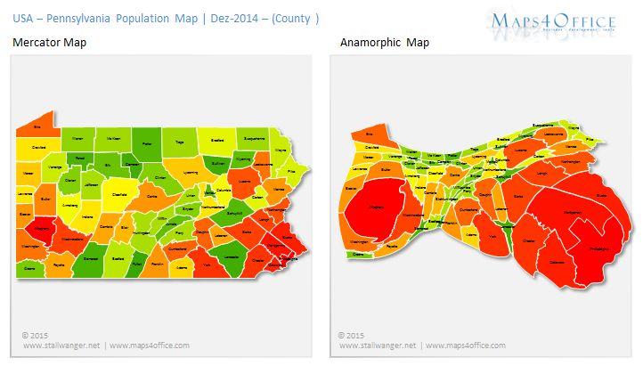 America USA Pennsylvania Map Population MAPS Pinterest - Map of pa usa
