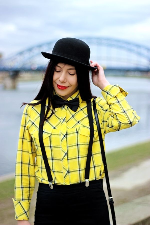 lillymarlenne.blogspot.com  Masculine style OOTD with bow tie and suspenders   #suspenders #bowtie #womensfashion