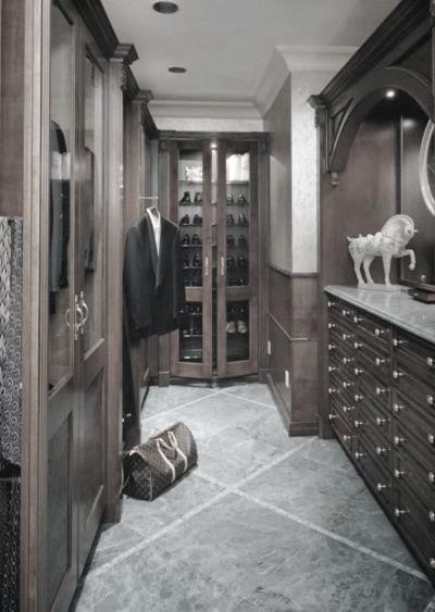Masculine gentleman closet