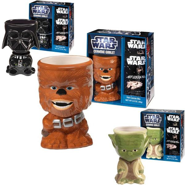 Want Darth Vader! Star Wars Ceramic Goblets With Hot Cocoa Mix