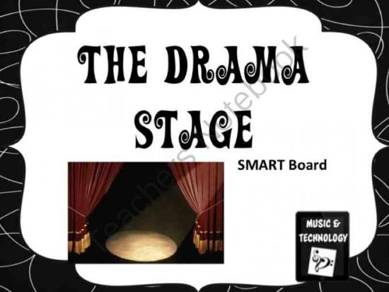 Drama Stage SMART Board Activity from Music and Technology on TeachersNotebook.com -  (2 pages)  - An interactive lesson to help teach students the different parts of the stage.