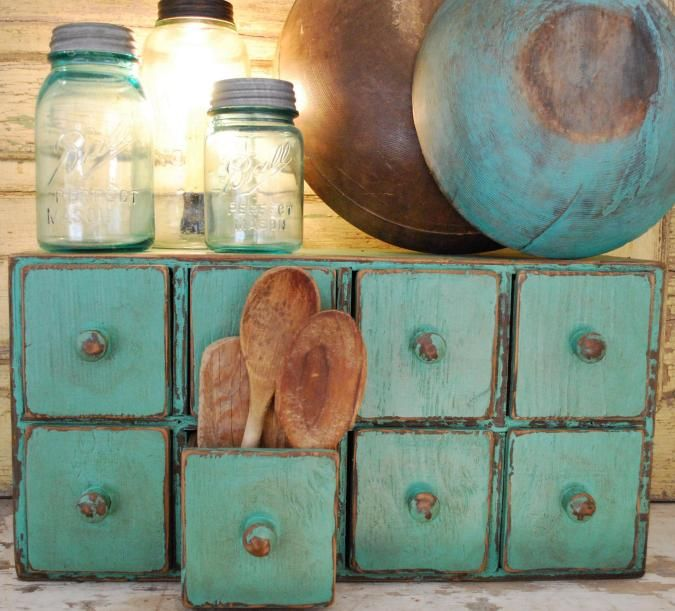 Primitive Apothecary Chest Cabinet. Hmm possible DIY with the ikea lil drawers
