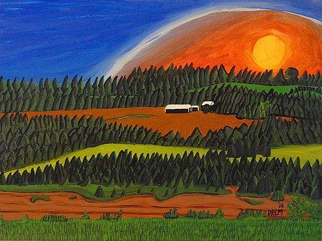 Maitland Farmland Nova Scotia, Canada by David Manicom