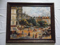 """Риолис.По мотивам картины Ренуара """"Площадь Троицы.Париж"""". Несмотря на размер 60х50 см...."""