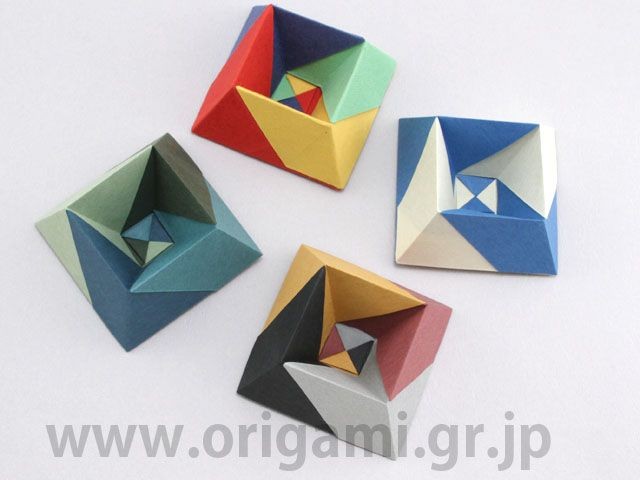 "Albers Box by Jun Maekawa - Tanteidan Magazine #147, also in book released Nov. 1, 2016 ""Folding Geometry."""