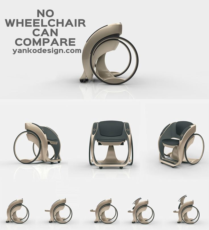 Maybe it's controversial to say, but using a wheelchair wouldn't be so bad if it looked and worked like this! Like something out of an X-Men comic, this concept by Adnan Curić combines a futuristic hubless design with automated features that together reduce stigma while maximizing mobility and functionality. www.yankodesign.com
