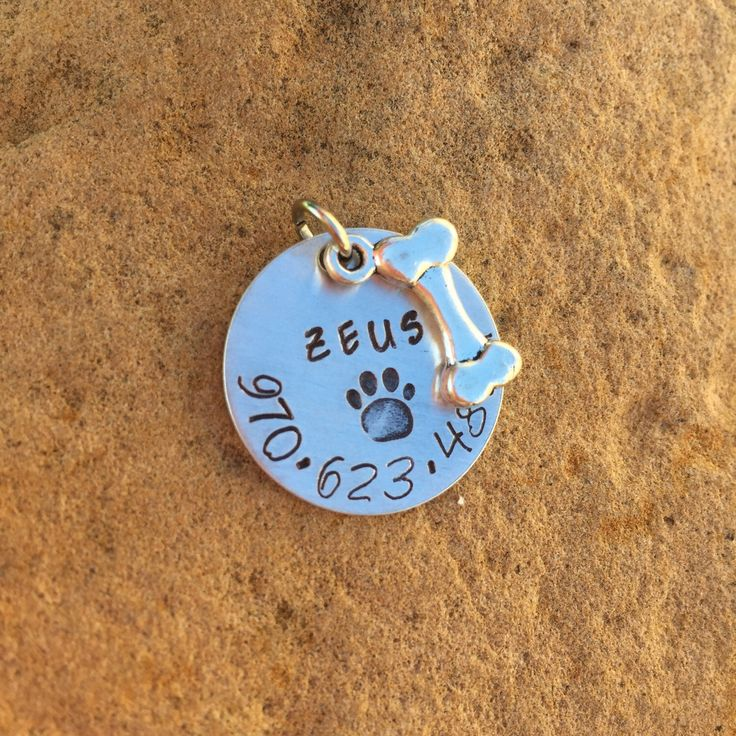 A personal favorite from my Etsy shop https://www.etsy.com/listing/249129055/pet-id-tag-dog-tag-name-tag-for-dog-name