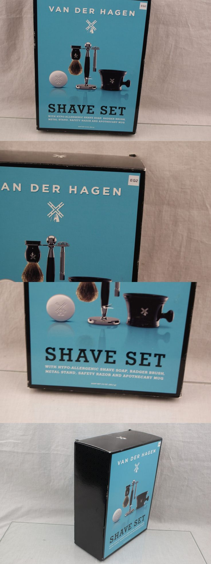 Shaving and Grooming Kits and Sets: Luxe Shave Set With Stainless Razor Stand Deluxe Brush Mug And Soap Mens Shaving -> BUY IT NOW ONLY: $87.39 on eBay!