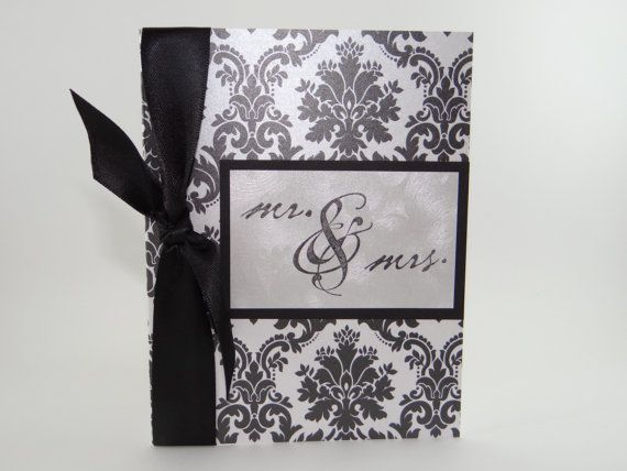 Elegant black and silver wedding card with by ChristysCardShop, $4.50
