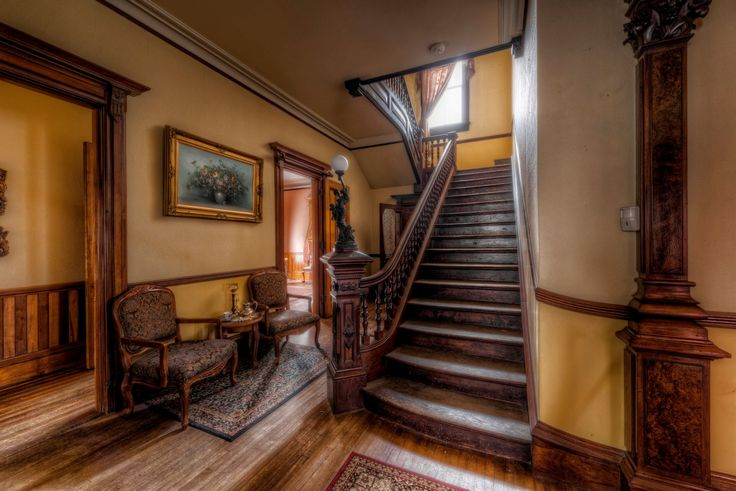 """The home is known as """"The Victorian."""" A gorgeous and enormous estate, it was built by furniture maker S.K. Pierce in 1875."""