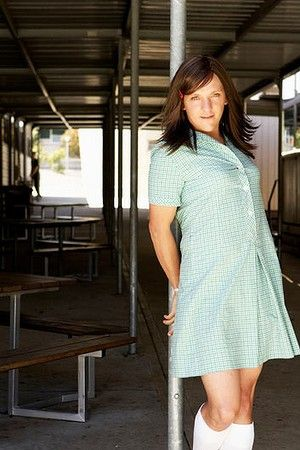 Chris Lilley as Ja'mie King. ONE OF THE FUNNIEST SHOWS EVER He is brilliant.