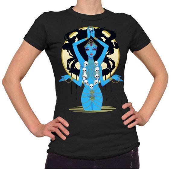 Hey, I found this really awesome Etsy listing at https://www.etsy.com/listing/233186479/kali-hindu-goddess-fashion-tee-shirt-by