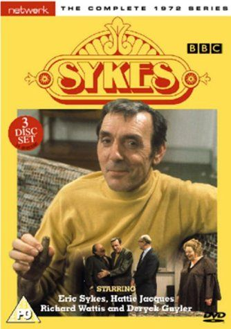 SYKES :: sitcom starred Eric Sykes and Hattie Jacques who play twins. They live together and lead a slightly surreal life, annoying their snobby next-door neighbour Mr Brown and getting into frequent trouble with the local constable. Priceless x