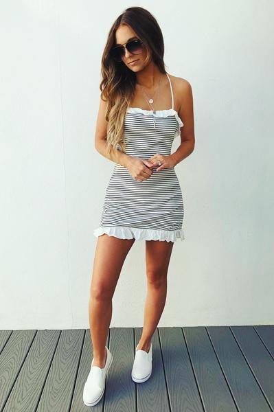 1c9ba5c290e55 Walk The Line Dress: White/Black   dream closet   Dresses, Fashion ...