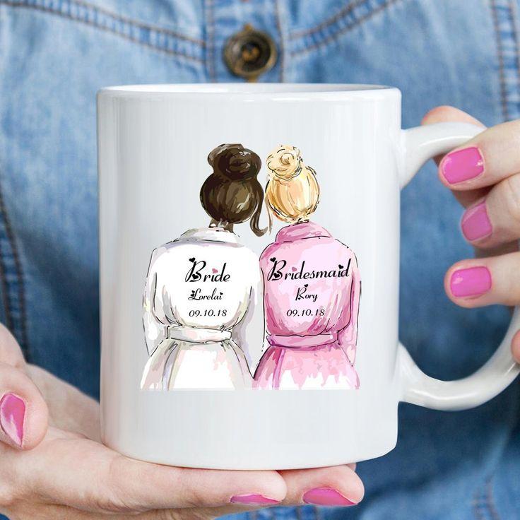 Amazon.com: Will You Be My Bridesmaid ? Custom World's Best Maid Of Honor Coffee Mug, Bride and Bridesmaid 11 oz White Ceramic Tea Cup, BFF Best Friend Wedding Gift, Pretty Fun Bestie Mug, Cute Engagement Gift: Sports & Outdoors