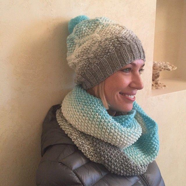 Комплект из полушерсти шапка и снуд в два оборота 6000₽ возможно исполнение в любых цветах #вязание #handmade #вязаниеспицами #вязаниеназаказ