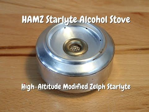 The MOST FUEL EFFICIENT alcohol stove - the DIY HAMZ Starlyte - YouTube