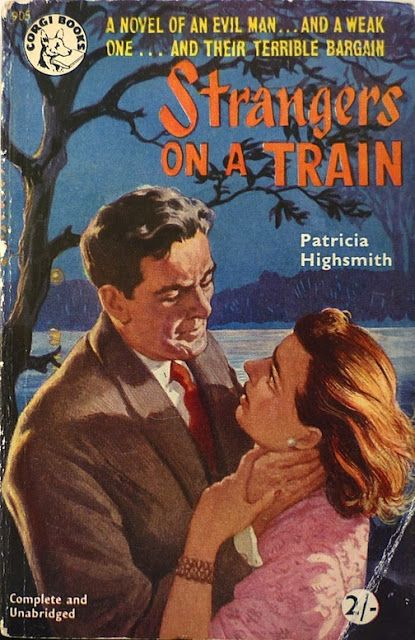 Patricia_Highsmith - 1950 Strangers on a train / Corgi and Pan Paperback First Edition Cover Gallery