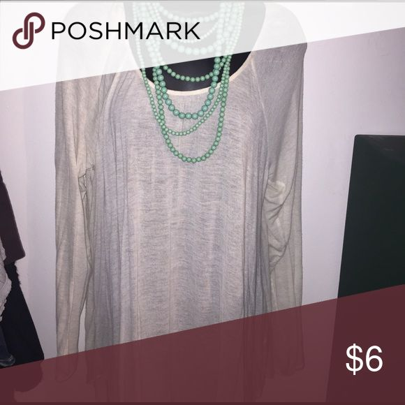 Think top great for layering Light beige long sleeve top Maurices Tops Tunics