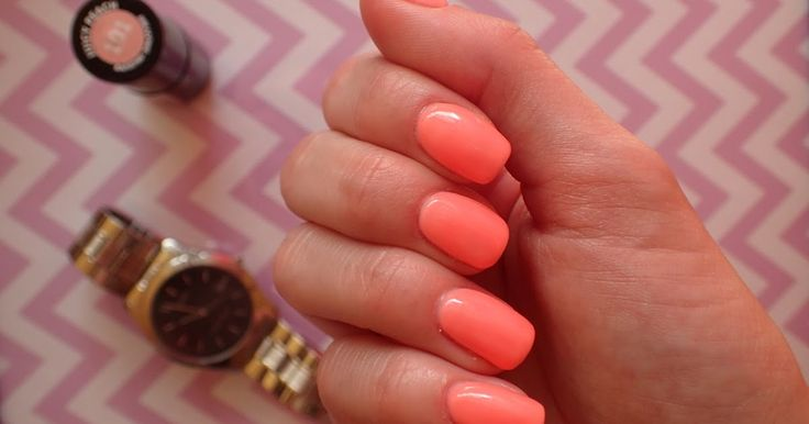 Love Chevron: Manicure hybrydowy Semilac Juicy Peach 101