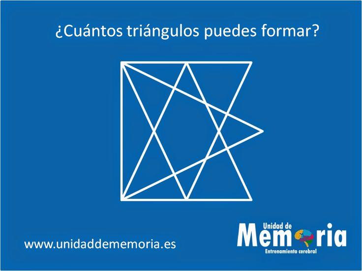 UNIDAD DE MEMORIA.                                    ENTRENAMIENTO CEREBRAL: ¿Cuántos triángulos puedes formar? 4-3-2015