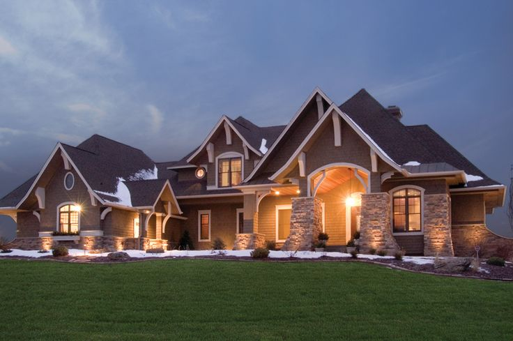 458 best dream house plans images on pinterest for Luxury craftsman home plans