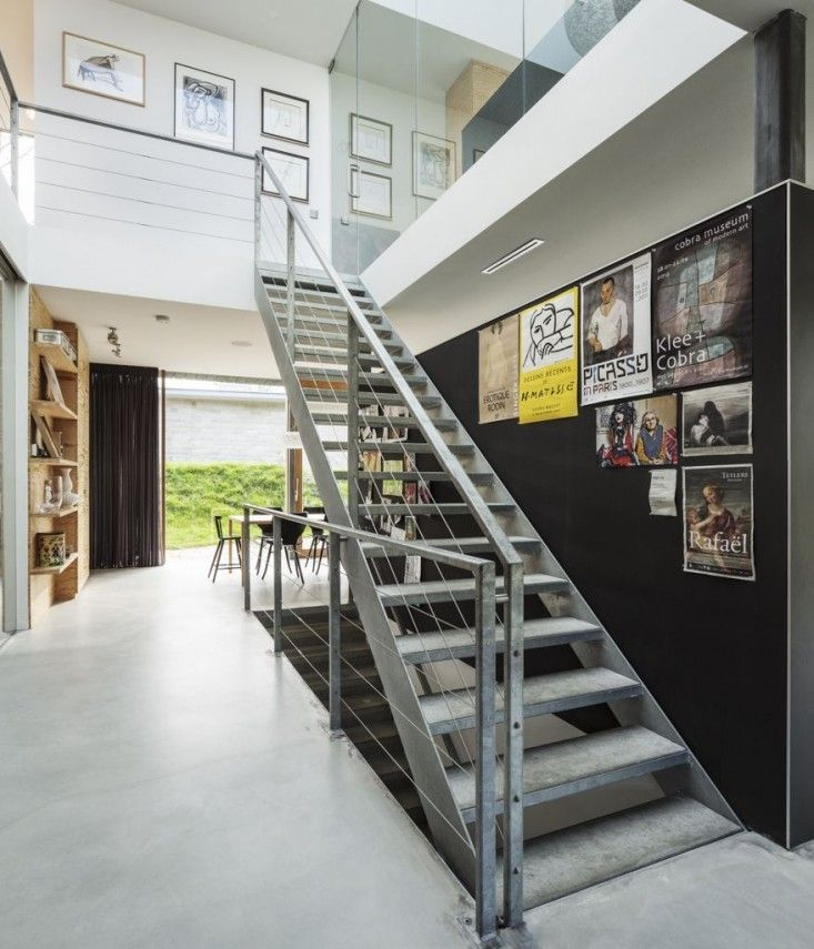 Villa V by Paul de Ruiter, Bloemendaal, Netherlands, Tim Van de Velde Photos | RemodelistaI Industrial Galvanized Stairs