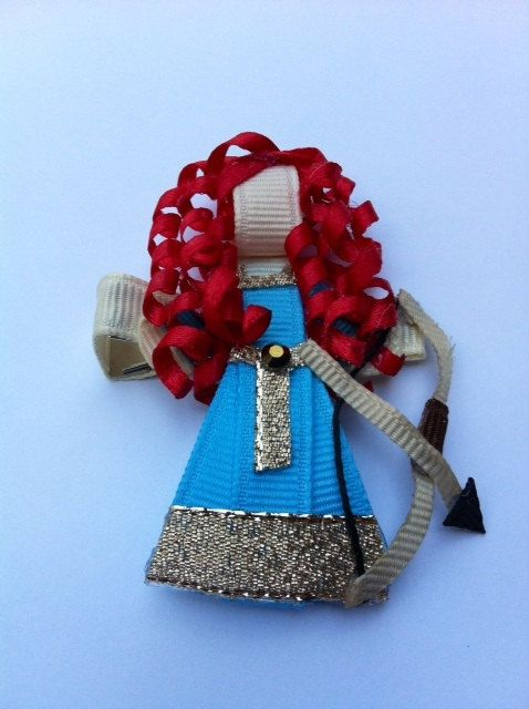 Brave Princess Merida Ribbon sculpture Hair Clip. $7.00, via Etsy.