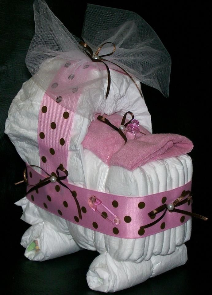 girl baby shower cake ideas, like it so much more then the 3 tier diaper cake