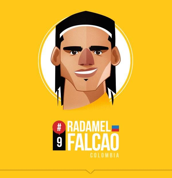 Radamel Falcao by Petirojo