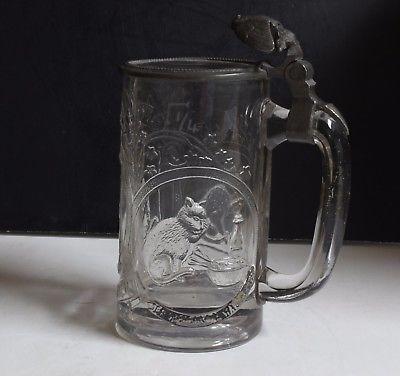1800-039-S-ANTIQUE-GERMAN-LIDDED-MOLDED-GLASS-STEIN-25-LITER-GERMANY $74.95