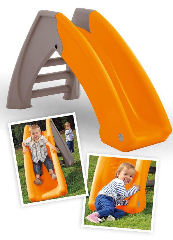 Toboggan pour enfants à partir de 2 ans, qui se plie pour un rangement facile