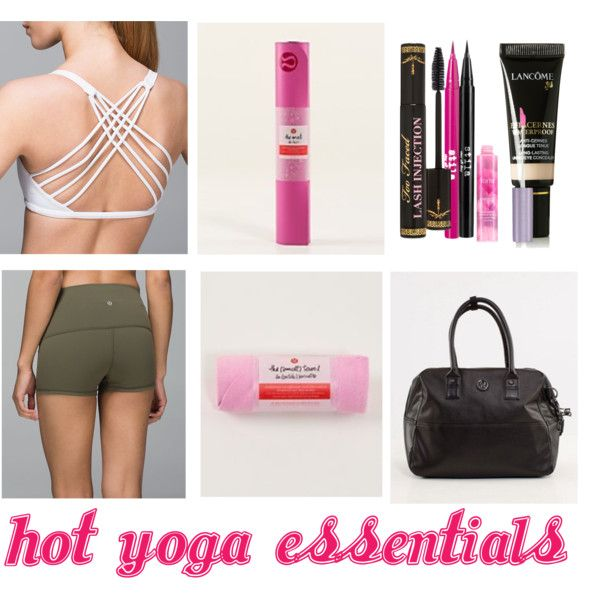 Hot Yoga Essentials by theclosetofd on Polyvore featuring lululemon, Lancôme, Too Faced Cosmetics, Stila and tarte