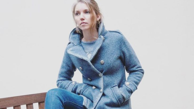 The best antidote  to a cold day? A hot blue wool peacoat (and a hot chocolate ) #ploumanach