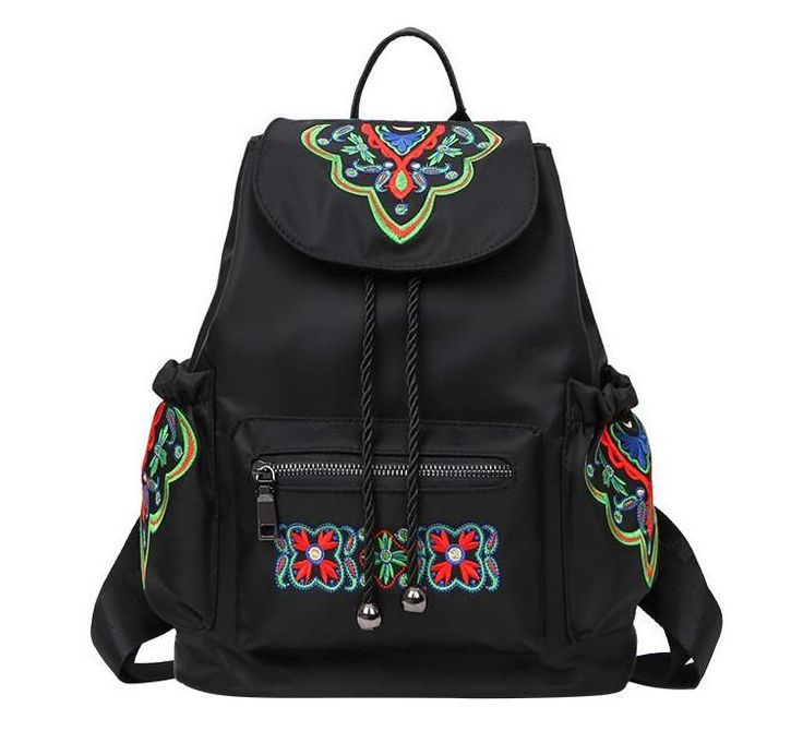 Embroidery Backpacks Kitt – Floral Cat