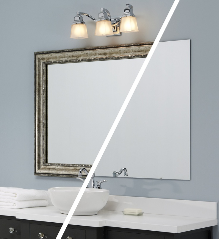 10 images about mirrormate before and afters on pinterest for Glass mirrors for bathrooms