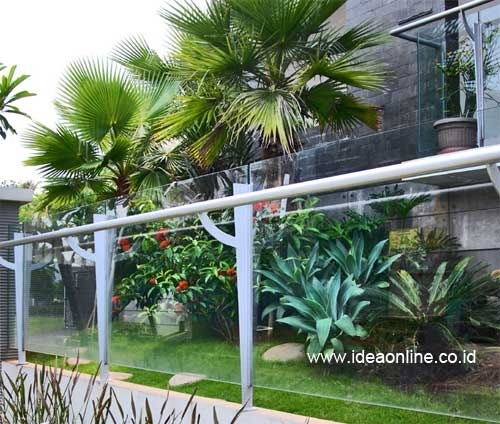 Glass and Metal Fence