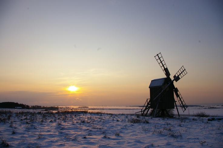 Winter over the Alvar