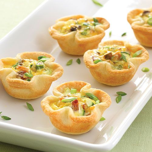 Savory Vegetable Mini Quiches - The Pampered Chef®  Try cooking without the pie crusts?... and cheese on only some
