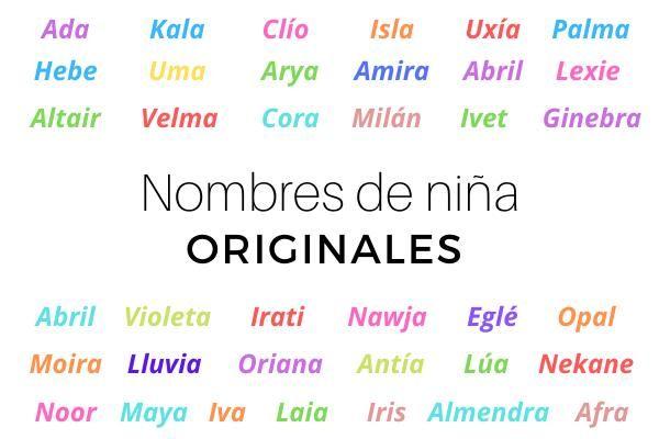 200 Nombres De Niña Originales Y Raros Nombres Para Niñas Originales Nombres De Niñas Nombres Para Bebes Originales