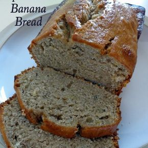 Super Moist Banana Bread Recipe Breads with bananas, sugar, oil, eggs, all-purpose flour, baking powder, baking soda, cinnamon