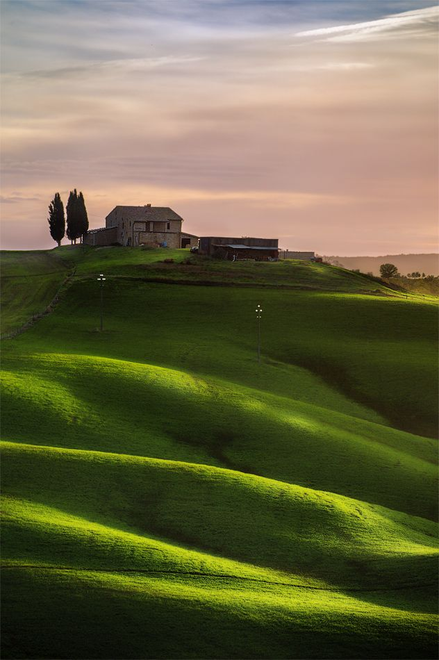 Farm on the hill. Tuscan, Italy