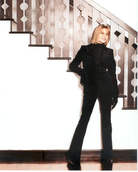 Diane Keaton - for chutzpah.  Because every dinner party needs someone with chutzpah.