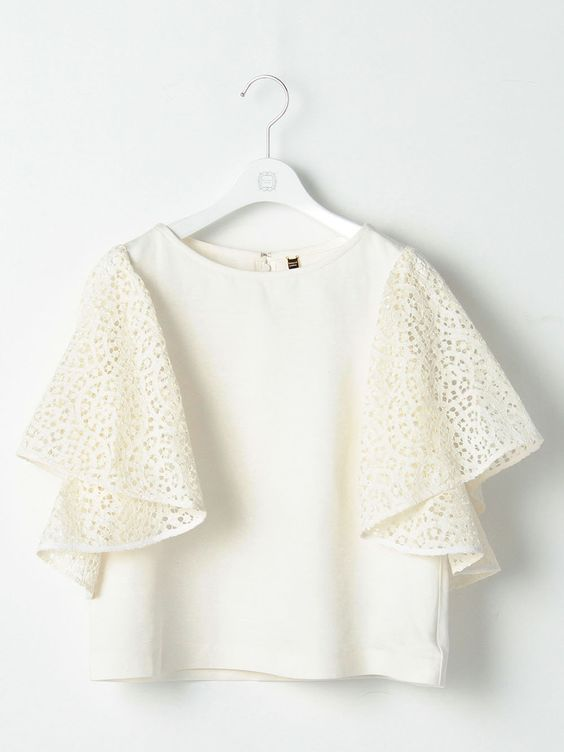 Use your lace for the Butterick blouse.