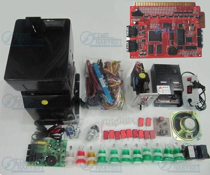 118.65$  Watch now - http://alixo6.worldwells.pw/go.php?t=1306194679 - Solt game kits with the 9 in 1PCB, Coinhopper, coin acceptor, buttons, harness for casino slot game machine same as the photo