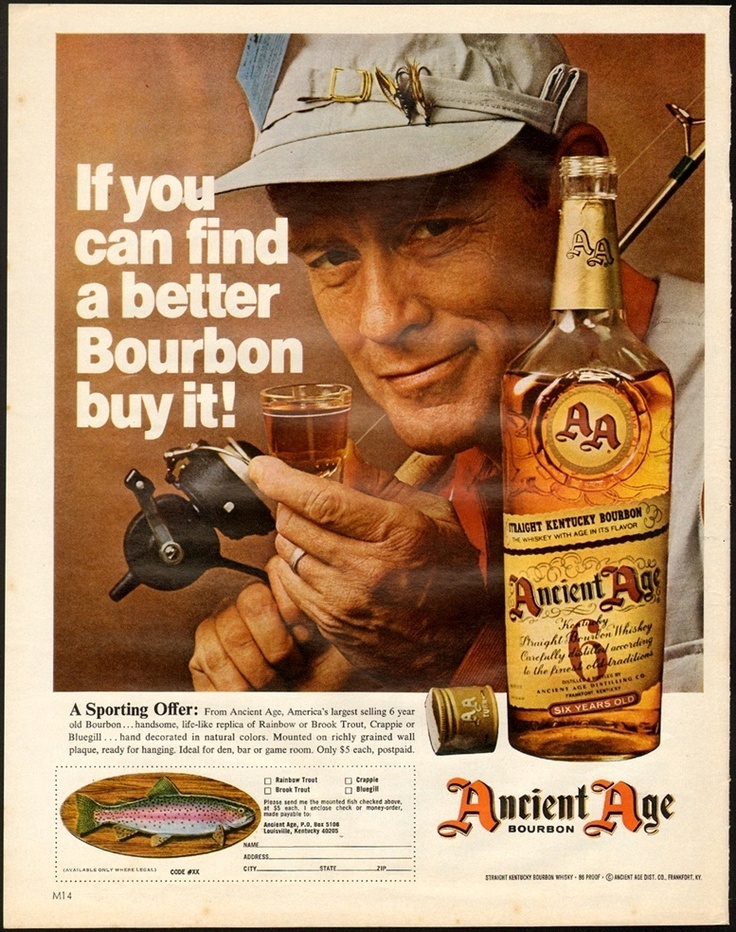 1968 Print Ad Ancient Age Bourbon. Replica fish for only $5 a piece..oh, that would make run right out for this swill