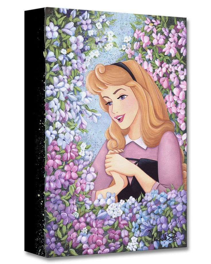 Sleeping Beauty - Briar Rose - Gallery Wrapped - Michelle St. Laurent - World-Wide-Art.com - #disney #michellestlaurent #disneytreasuresoncanvas #gallerywrapped #sleepingbeauty