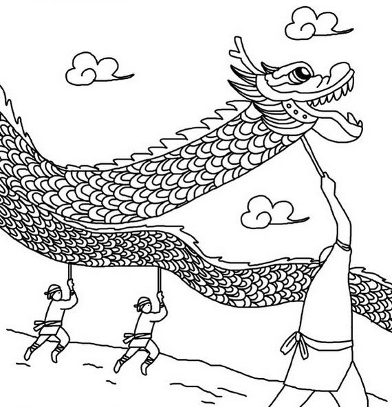Dragon Boat Festival Coloring Pages 15